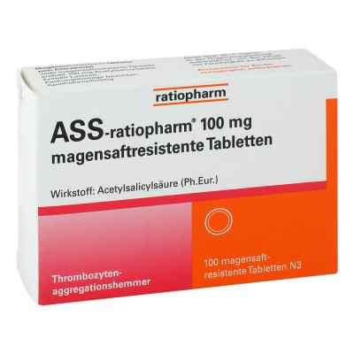 Ass ratiopharm 100 mg magensaftresistent   Tabletten  bei Apotheke.de bestellen