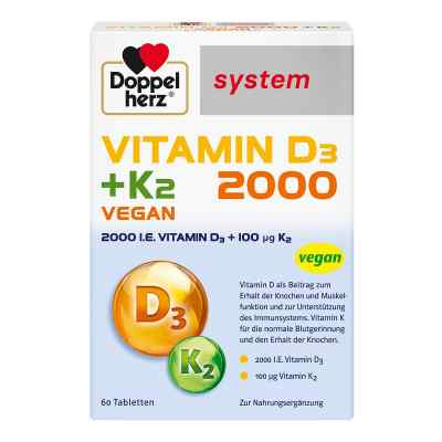 Doppelherz Vitamin D3 2000+k2 system Tabletten  bei Apotheke.de bestellen