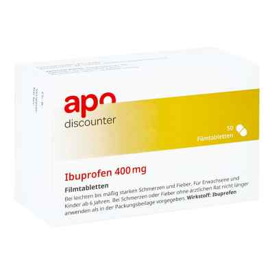 Ibuprofen 400 mg von apo-discounter Filmtabletten bei Schmerzen   bei Apotheke.de bestellen