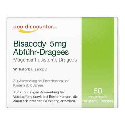 Bisacodyl 5mg Dragees von apo-discounter - bei Verstopfung  bei Apotheke.de bestellen