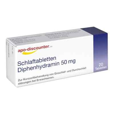Schlaftabletten Diphenhydramin 50 mg/Apodiscounter  bei Apotheke.de bestellen
